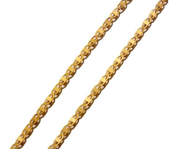 Corrente Ouro Amarelo Fina Piastrine Cadeado 750 18k J21743