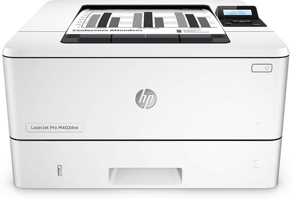 Impresora Laser Hp M402dne Blanco Y Negro Inalambrica Red