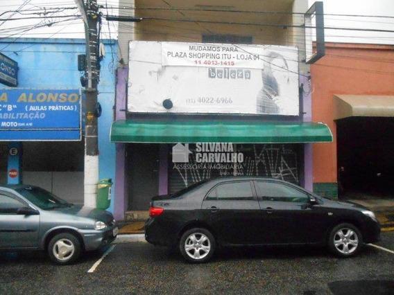 Salão Comercial Para Locação, Centro, Itu. - Sl0460