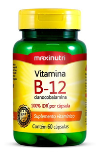 Vitamina B12 Maxinutri 60 Cápsulas - Cianocobalamina