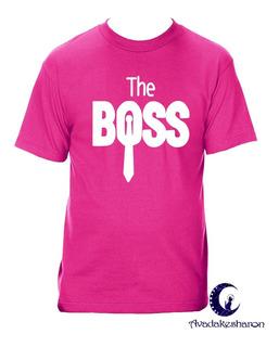 Camiseta Estampada Para Parejas The Boss The Real Boss