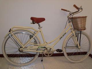 Bicicleta Vintage Rodado 26x1 1/2 Mimbre Asiento Resortes