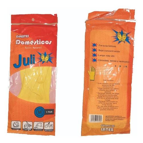 Guantes Domésticos Amarillos Juli De Látex Natural
