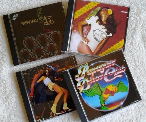 4 Cds Papagaio Disco Club 1977 1978 1983 / Trilhas & Afins