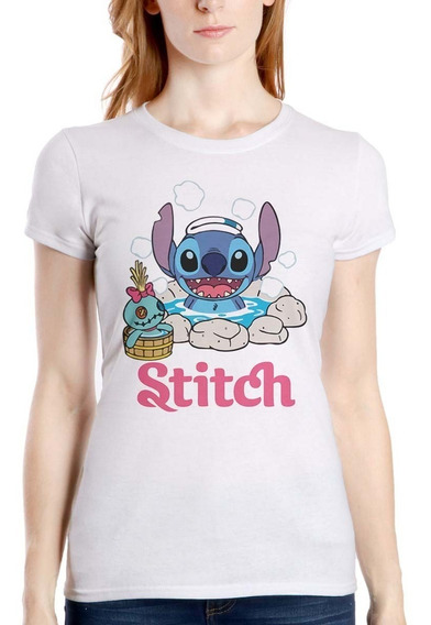 Disney Lilo Y Stitch Bañera 02 Playera Hombre Mujer