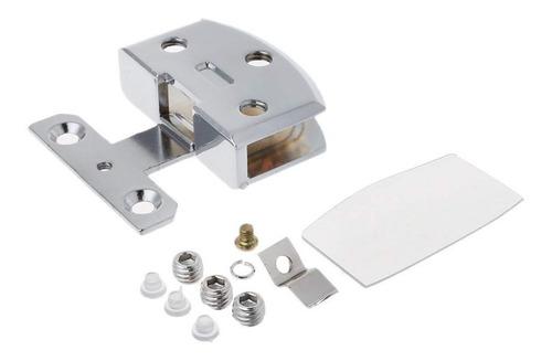 Imagen 1 de 4 de Bisagra Para Vidrio Industrial De Aleación De Zinc Cromada