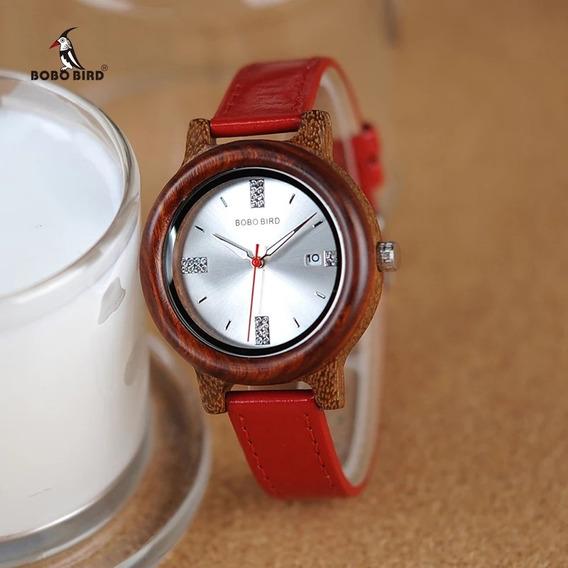 Relógio De Madeira Artesanal