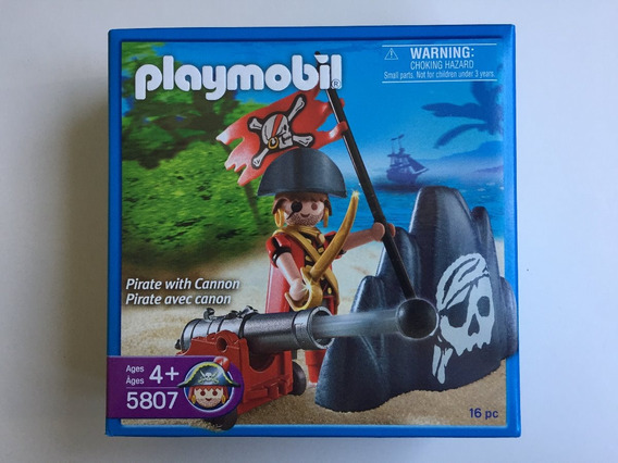 Playmobil 5807 Pirata Com Canhão Pirates Geobra