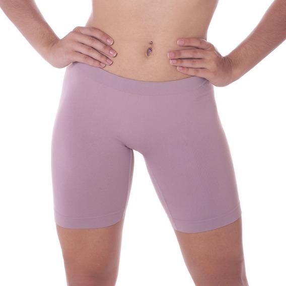 Kit Com 2 Calcinhas Shorts Boxer Sem Costura Feminina Loba
