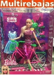 Muñeca Barbie Con Bicicleta