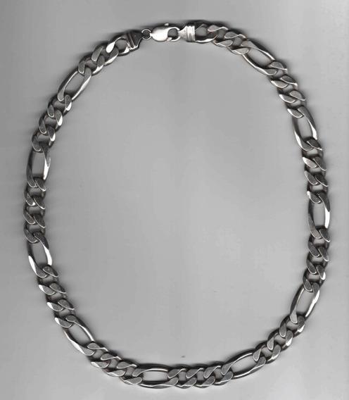 Cordão Masculino De Prata Modelo Groumet: Elo 3x1