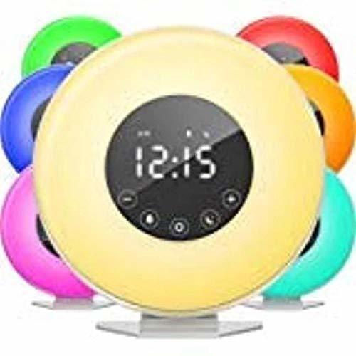 Radio Despertador Amanecer, Despertador Digital Con 6 Sonido