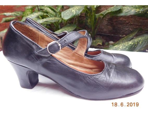 Zapatos Para Danza, Folklore, Español En Cuero