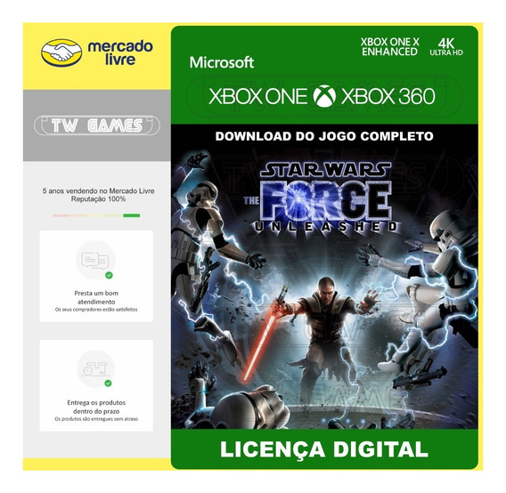 Star Wars Force Unleashed Retrocompativel Xbox One 360