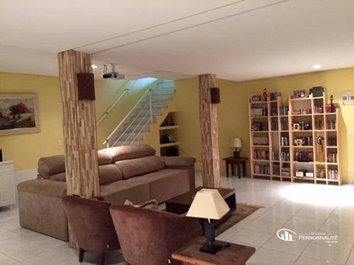 Imagem 1 de 30 de Santo André  Vila Floresta  O Sobrado Dos Sonhos 3 Suites + Jacusi  5 Vagas À Venda, 300 M² Por R$ 1.595.000 - So0267