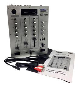 Controlador Mixer Profissional Dj Mixagem Napoli 3 Canais