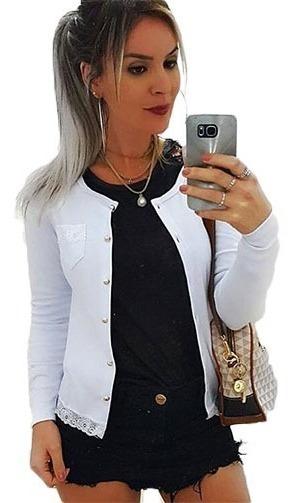Blusinha De Frio Feminina Casaquinho Cardigan Suéter C/botão