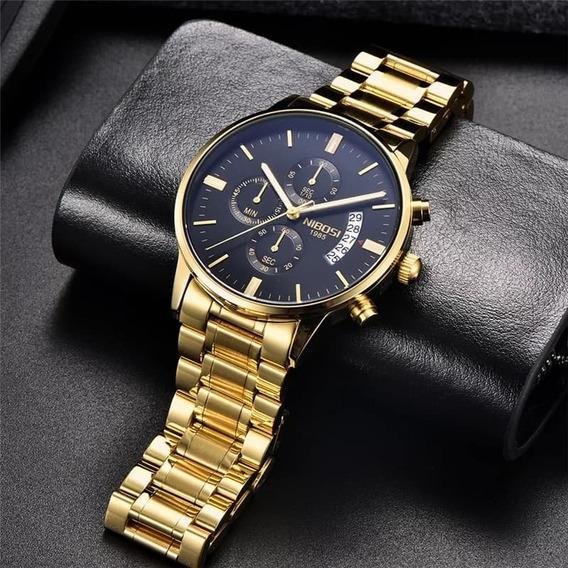 Relógio Nibosi Masculino Blindado Funcional Na Caixa 2309