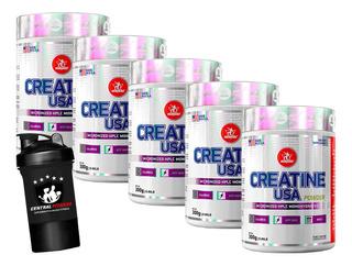 5 Creatina Powder Usa 300g Midway + Brinde + Com Nf-e