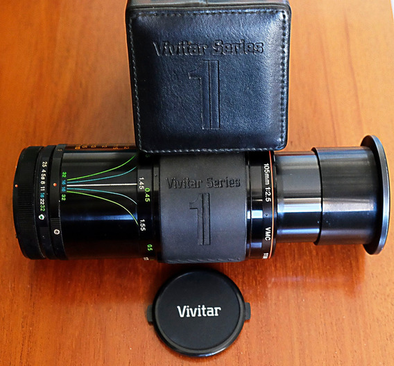 Objetiva Vivitar 105mm Macro 1:1 Telephoto Série 1 Canon