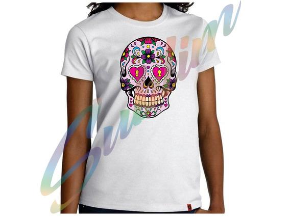 Camiseta Camisa Personalizada Caveira Mexicana