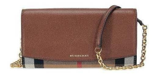 Bolsa Burberry House Check Wallet Chain 50%off Oportunidade