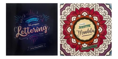 Libro Colorear Creando Tu Propio Lettering O Mandala Pack 2