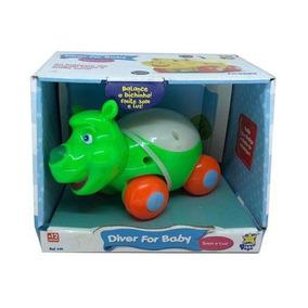 5 Carrinho Baby Mordedor Diver Toys Bichinhos Diferentes