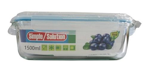 Envase Rectangular De Vidrio Para Alimentos 1.5 Litros