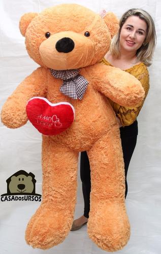 Imagem 1 de 10 de Urso Pelúcia Presente Namorada Enorme 1,40 Metros + Coração