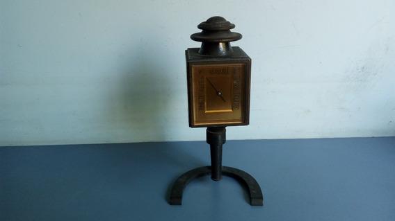 Antigo Barômetro/termômetro/higrômetro De Mesa Em Ferro