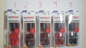 4 Kits De Unhas De Gel Autocolantes Da Marca Impress