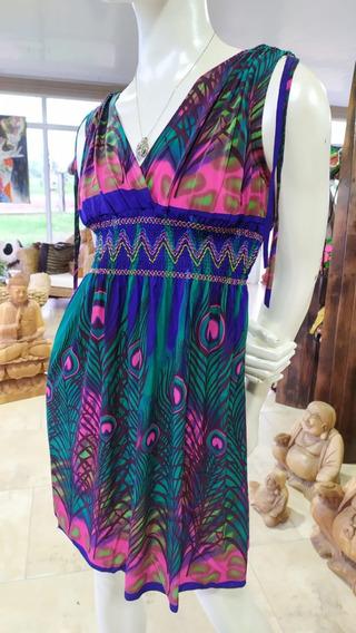 Vestido Corto Sin Mangas Cómodo Y Fresco Ideal Para Verano!