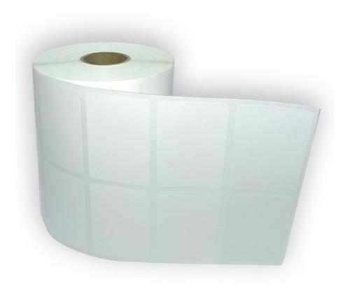 Etiqueta Couche 50x30 Mm 2 Colunas Branca - 30 Rolos
