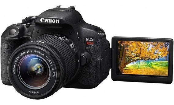 Câmera Canon T5i + Case + Lente 18/135 + Lente 50/1.4