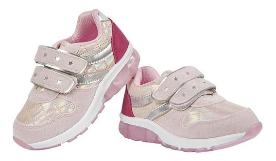 Zapato Tenis Niña Color Rosa Diseño Estrellas Tornasol Color