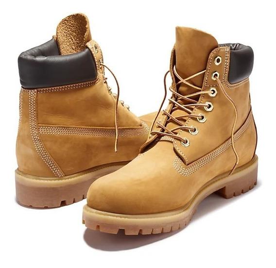 Bota 6 Inch Premium Hombre Amarillo Borcego Talle 10.5 Us