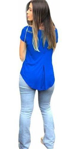 Blusinha Blusa Mullet Kit 3 Feminina Moda Atacado Barato