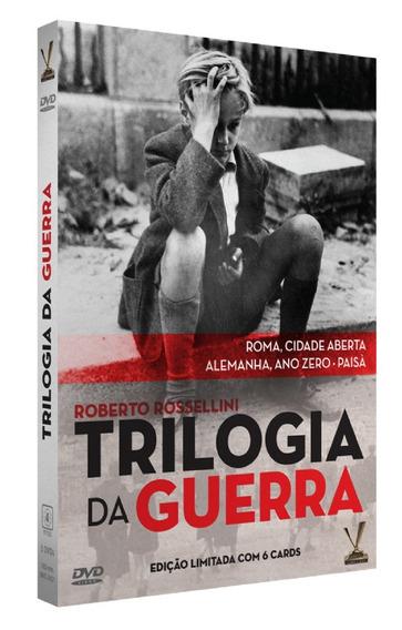 Trilogia Da Guerra Roberto Rosselini Box 3 Filmes 6 Cards