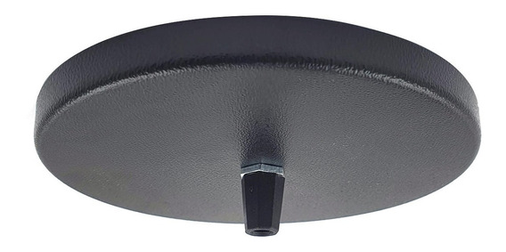 Canopla De Metal Acabamento Preto Para Teto - Pendentes 18cm