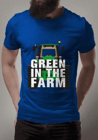 Camiseta Para Fãs Do Agronegócio Verde Na Fazenda