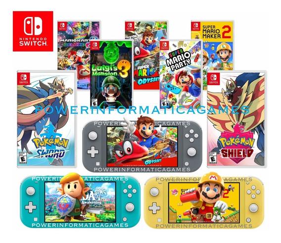 Nintendo Switch Lite 32gb + 1 Jogo Pokemon Mario Ou Zelda
