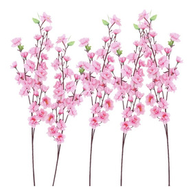 10 Pessegueiro Artificial Haste Grande 1,20 Metro Flores