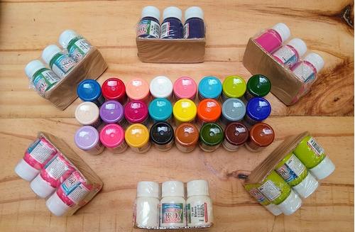 Imagen 1 de 7 de Kit 24  Pinturas Textil  Premium Colores Variados  Orocolor