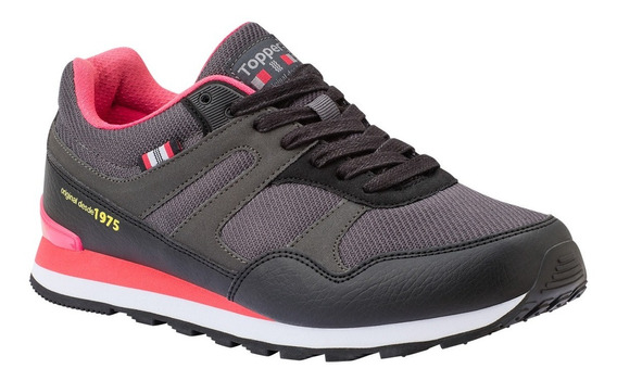 Zapatillas Topper Tilly-negro/fucsia-24377