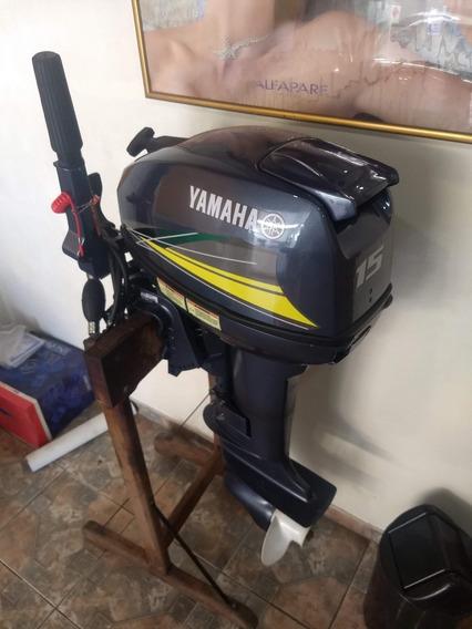 Motor De Popa Yamaha 15 Hp Revisado Promoção Frete Grátis )