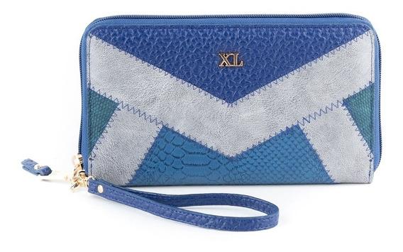Billetera Gde Mujer Xl Extra Large Noel Azul