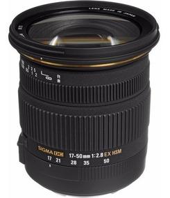Lente Sigma 17-50mm F/2.8 Ex Dc Os Hsm P/ Canon 12x S/juros