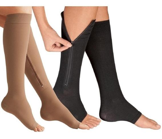 2x1 Zip Calcetas De Compresion Legs Medias Calcetines Power