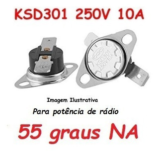 Termostato Ksd301 55 Graus Potencia Radio - Normal Aberto No